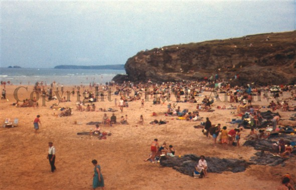 Image: Hayle has seven miles of golden sand, a very popular beach which still is today.